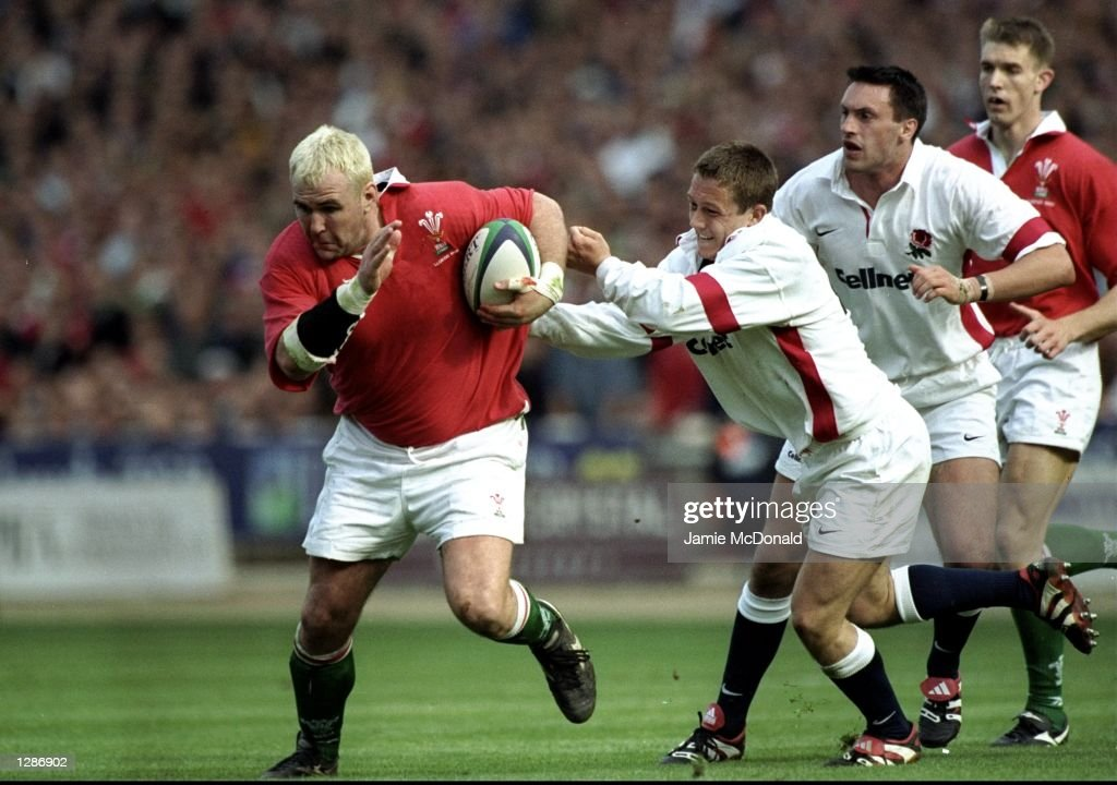 Wales v England Scott Quinnell : News Photo