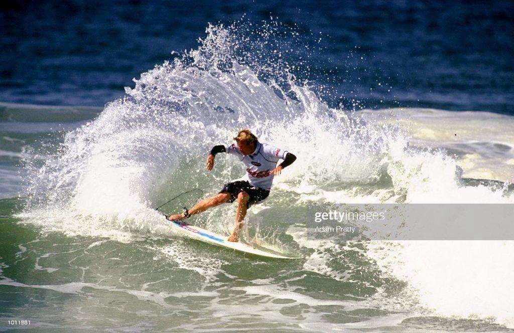 Taj Burrow of Australia in action during the 1999 Coca-Cola Classic Surfing Championship at Manly Beach, Sydney, Australia. \ Mandatory Credit: Adam Pretty /Allsport
