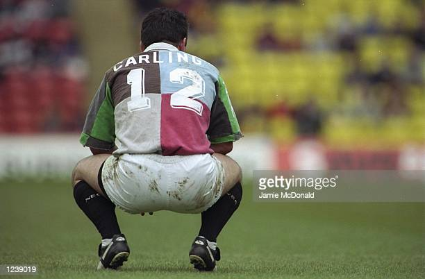 Will Carling of Harlequins during the Allied Dunbar Premiership match between Saracens and Harlequins played at Vicarage Road London England Quins...