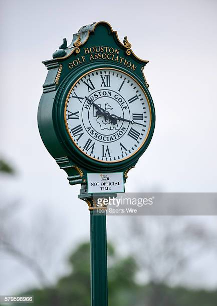 Houston TX Houston Golf Association clock during first round play of the Shell Houston Open at the Golf Club of Houston Humble TX