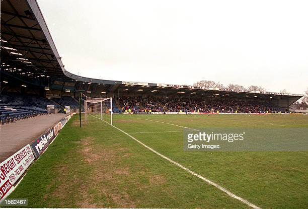 A general view of Gigg Lane the home of Bury during the Nationwide Division Two match against Scunthorpe The game finished in a 30 win for Bury...