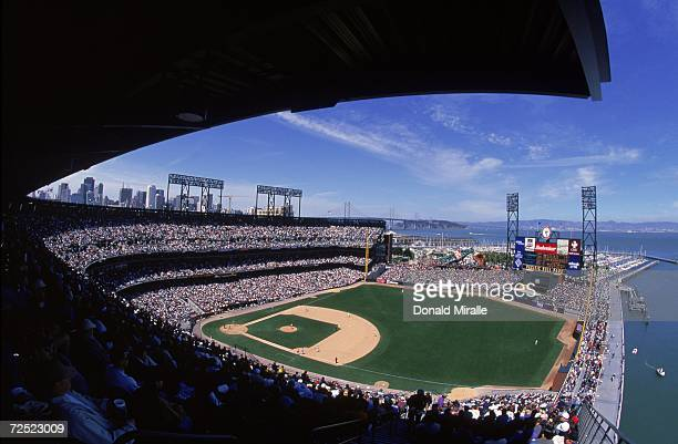 General view of Pac Bell Park during the game between the New York Mets and the San Francisco Giants in San Francisco, California. The Giants...