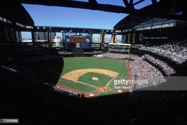 A general view of the interior of the Ballpark taken during a game between the Pittsburgh Pirates and the Arizona Diamondbacks at the Bank One...