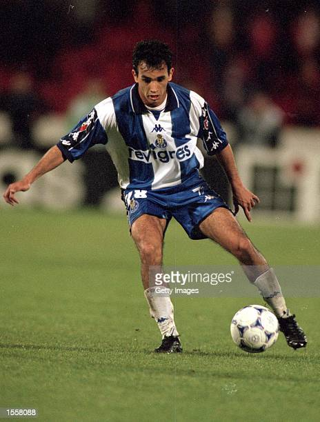 Clayton of Porto in action during the Portugeuse League match against Benfica at the Estadio da Luz in Lisbon Portugal Benfica won the match 10...