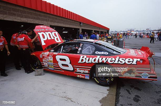 Dale Earnhardt Jr #8 is having his car inspected during the NAPA Auto Parts 500 Part of the NASCAR Winston Cup Series at the California Speedway in...