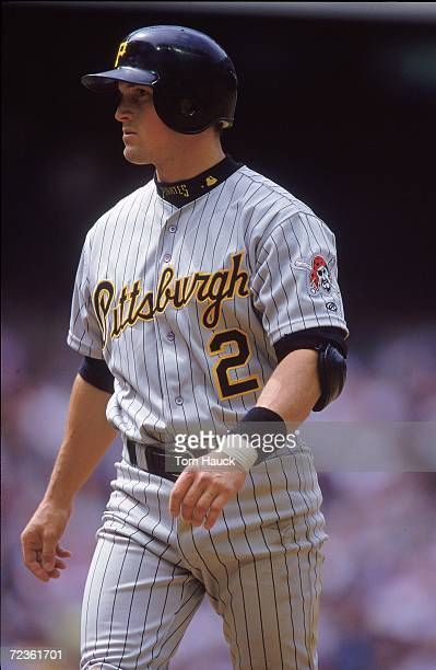 Pat Meares of the Pittsburgh Pirates walks on the field during the game against the Arizona Diamondbacks at the Bank One Ballpark in Phoenix Arizona...