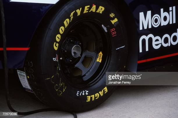 Rusty Wallace''s tire during the NAPA Auto Parts 500 Part of the NASCAR Winston Cup Series at the California Speedway in Fontana California Mandatory...