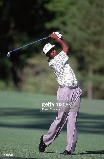 Vijay Singh of Fiji in action during the final round of the US Masters at Augusta National in Georgia, USA. \ Mandatory Credit: Dave Cannon /Allsport
