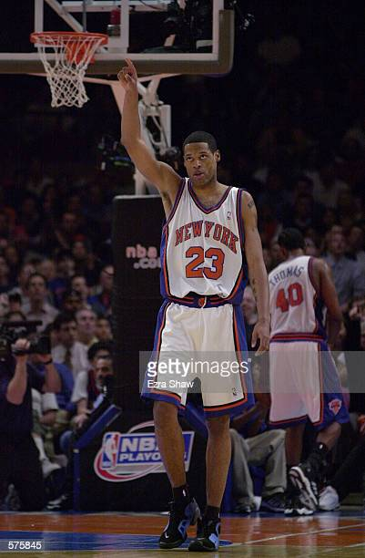 23Marcus Camby of the New York Knicks during game 1 of round one in the NBA Playoffs at Madison Square Garden in New York New York The Knicks...