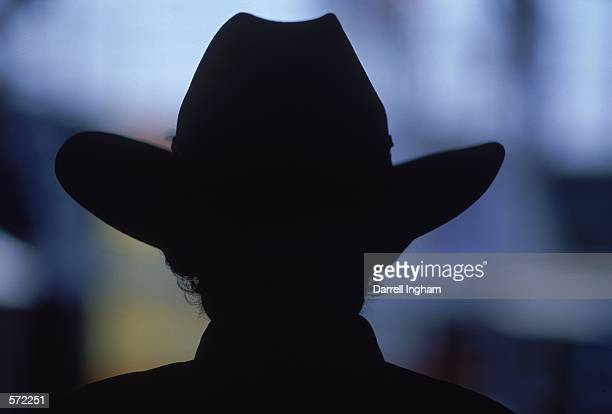 A silhouette view of Richard Petty owner of Petty Enterprises taken during the Talladega 500 presented by NAPA part of the NASCAR Winston Cup Series...