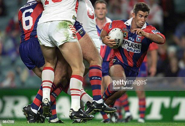 Andrew Johns of the Knights in action during the round 11 NRL match between the St George Illawarra Dragons and the Newcastle Knights played at the...