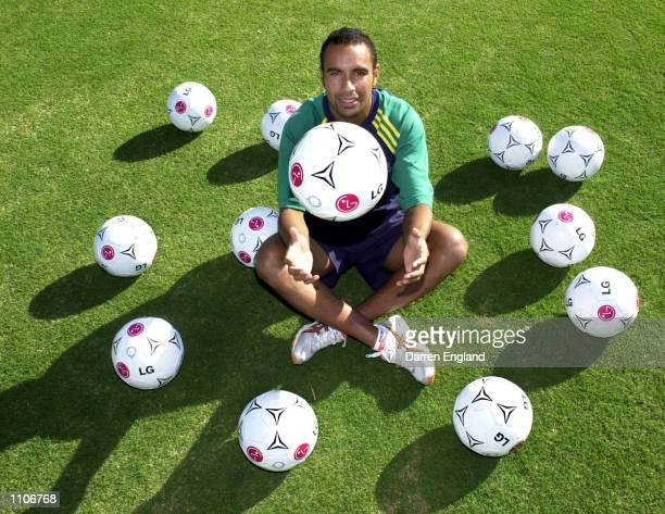 Archie Thompson of the Australian Socceroos relaxes at the team hotel after he set a new world record with 13 individual goals in Australia's 31 to...