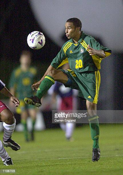 Archie Thompson of the Socceroos in action against American Samoa He scored a world record of 14 goals in one match during the Oceania group one...