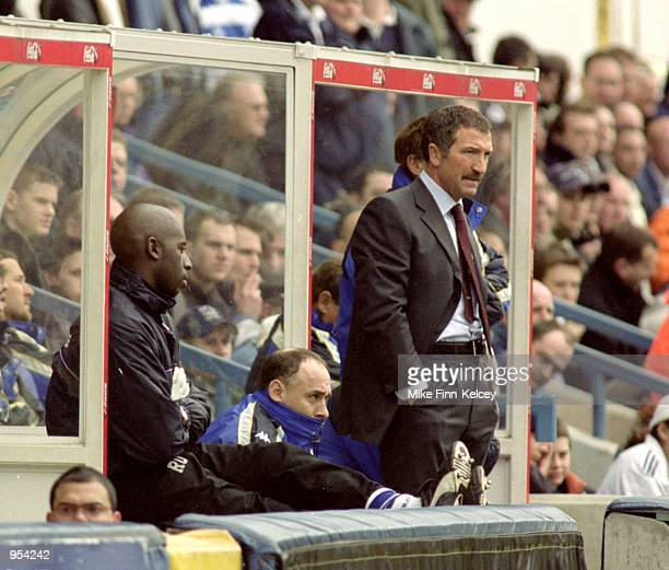 Blackburn Rovers manager Graeme Souness looks on from the team bench during the Nationwide League Division One match against Queens Park Rangers...