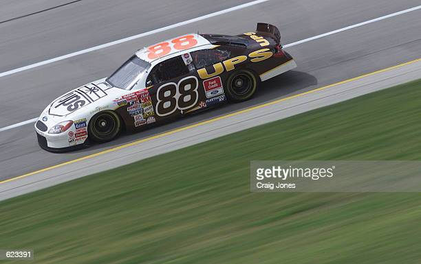 Dale Jarrett in the Robert Yates Racing UPS Ford during practice for the NASCAR Winston Cup Talladega 500 at the Talladega Super Speedway Talladega...