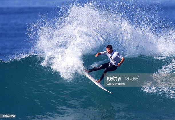 Danny Wills of Australia carves up a wave during the Rip Curl Pro held at Bells beach Victoria Australia DIGITAL IMAGE Mandatory Credit Allsport...