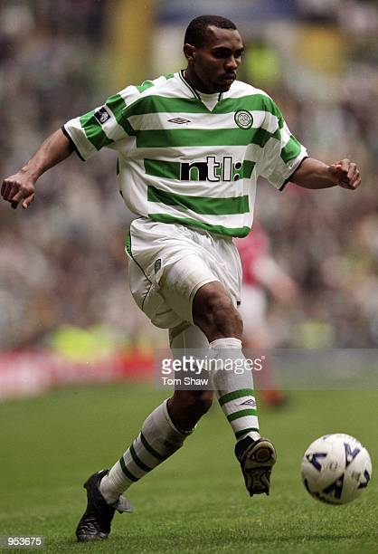 Didier Agathe of Celtic during the Scottish Premier League game against St Mirren at Celtic Park in Glasgow Scotland Celtic won the game 1 0 to...