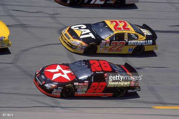 Driver Ricky Rudd who drives for Texaco Havoline Ford Taurus for Robert Yates Racing speeds down the track during the Talladega 500 presented by NAPA...