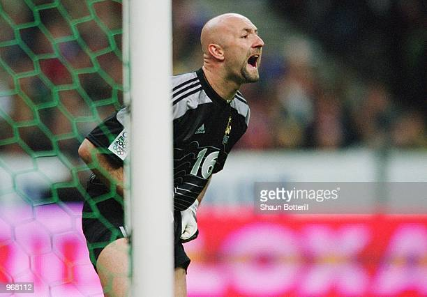 e9650bb8a2e Fabien Barthez of France in action during the International Friendly match  against Portugal played at the
