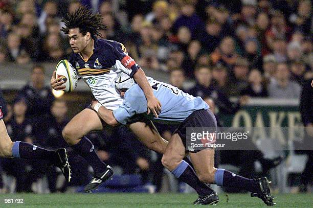 George Smith of the Brumbies in action during the Super 12 match between the ACT Brumbies and the New South Wales Waratahs played at Bruce Stadium,...