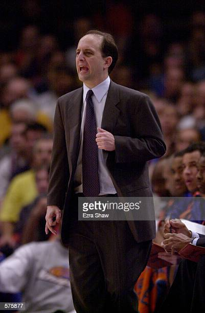 Head Coach Jeff Van Gundy of the New York Knicks during game 1 of round one in the NBA Playoffs at Madison Square Garden in New York New York The...