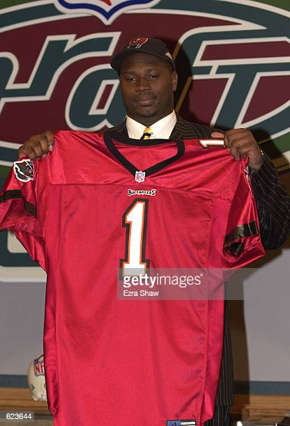 Kenyatta Walker after he was selected fourteenth in the NFL Draft by the Tampa Bay Buccaneers at Madison Square Garden in New York City Mandatory...