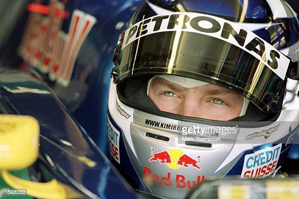 Kimi Raikkonen of Finland and Sauber in the garage during the First free practice session for the Spanish Grand Prix at the Circuit de Catalunya...