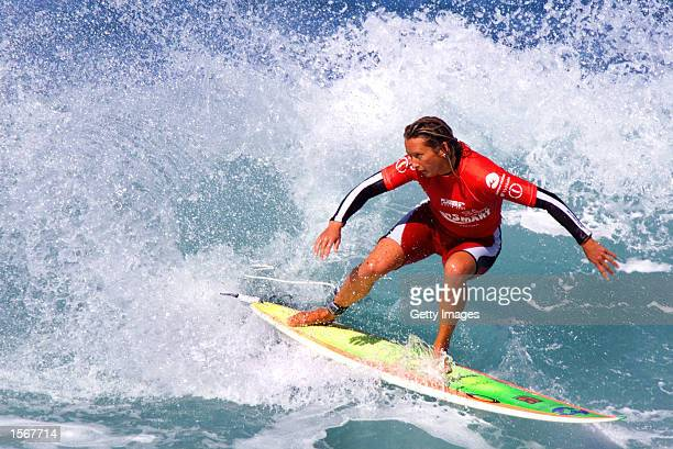 Layne Beachley of Australia advanced to the quarter finals of the Sun Smart Classic at Bells Beach after she defeated Jaqualine Silva of Brazil...
