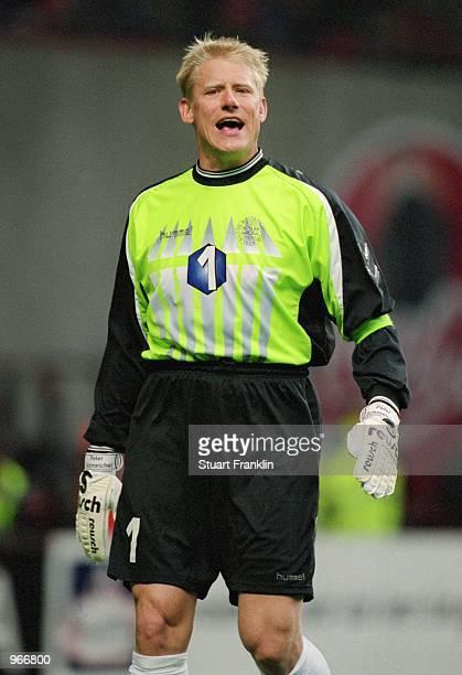 Peter Schmeichel of Denmark in action during the International Friendly match against Slovenia played at the Parkenstadion, in Copenhagen, Denmark....