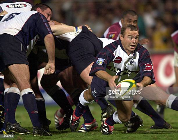 Russell Winter of the Cats in action against Queensland during the Super 12 Rugby Union match played between the Queensland Reds and the Cats played...