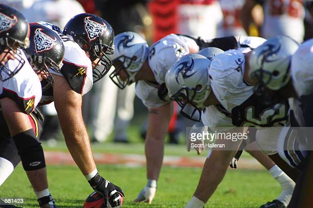 The Los Angeles Xtreme and the San Francisco Demons during the XFL Championship game at the Los Angeles Coliseum in Los Angeles California DIGITAL...