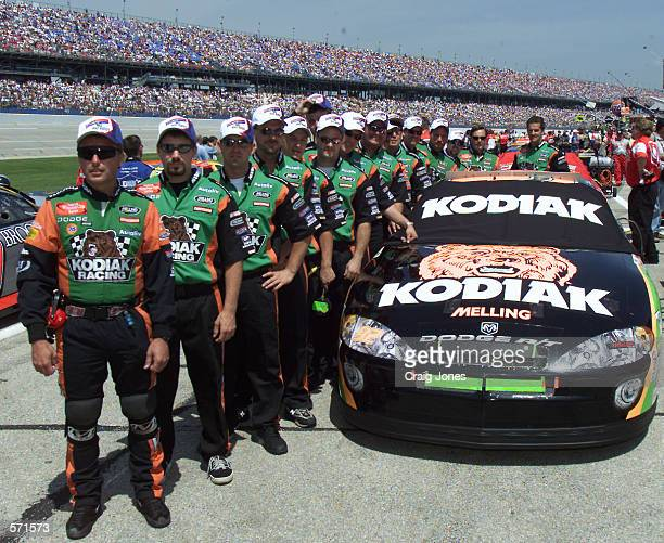 The Melling Racing team crew of pole position holder Stacy Compton before the start for the NASCAR Winston Cup Talladega 500 at the Talladega Super...