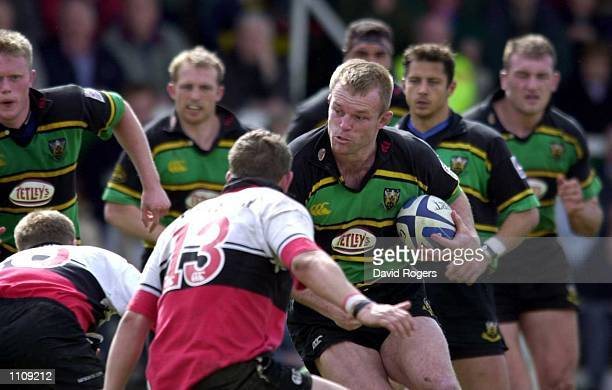 Tim Rodber of Northampton charges forward during the Zurich Premiership Play-off game between Northampton v Saracens at Franklin Gardens,...