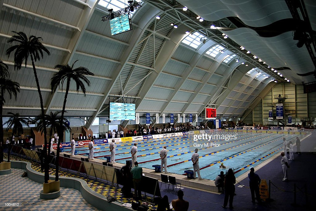 A general view of the Aquatics Centre in Manchester during the heats of the womens 400m medley at the 2002 British Long Course Championships. DIGITAL IMAGE. Mandatory Credit: Gary M. Prior/Getty Images