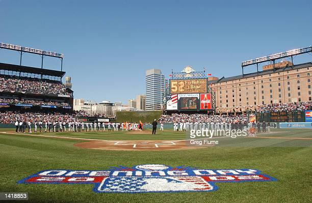 A general view of the field before Opening Day at Camden Yards between the New York Yankees and the Baltimore Orioles in Baltimore Maryland The...