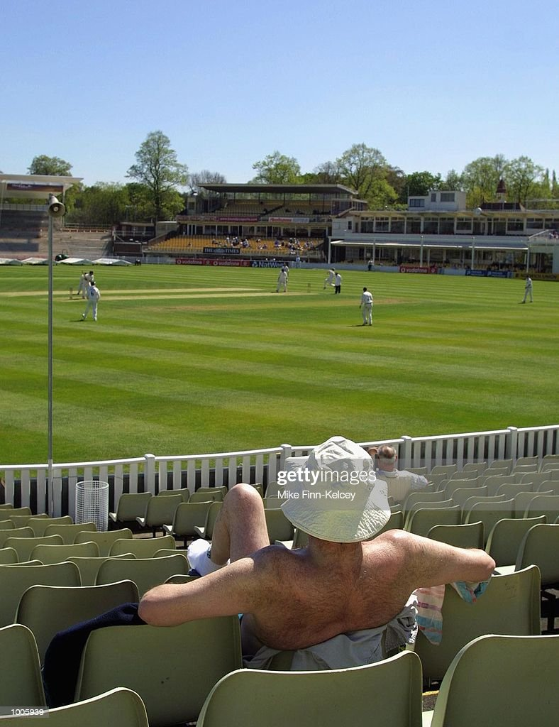 A spectator watches the action during the Frizzell County Championship match between warwickshire and Lancashire at Edgbaston, Birmingham. DIGITAL IMAGE Mandatory Credit: Mike Finn Kelcey/Getty Images