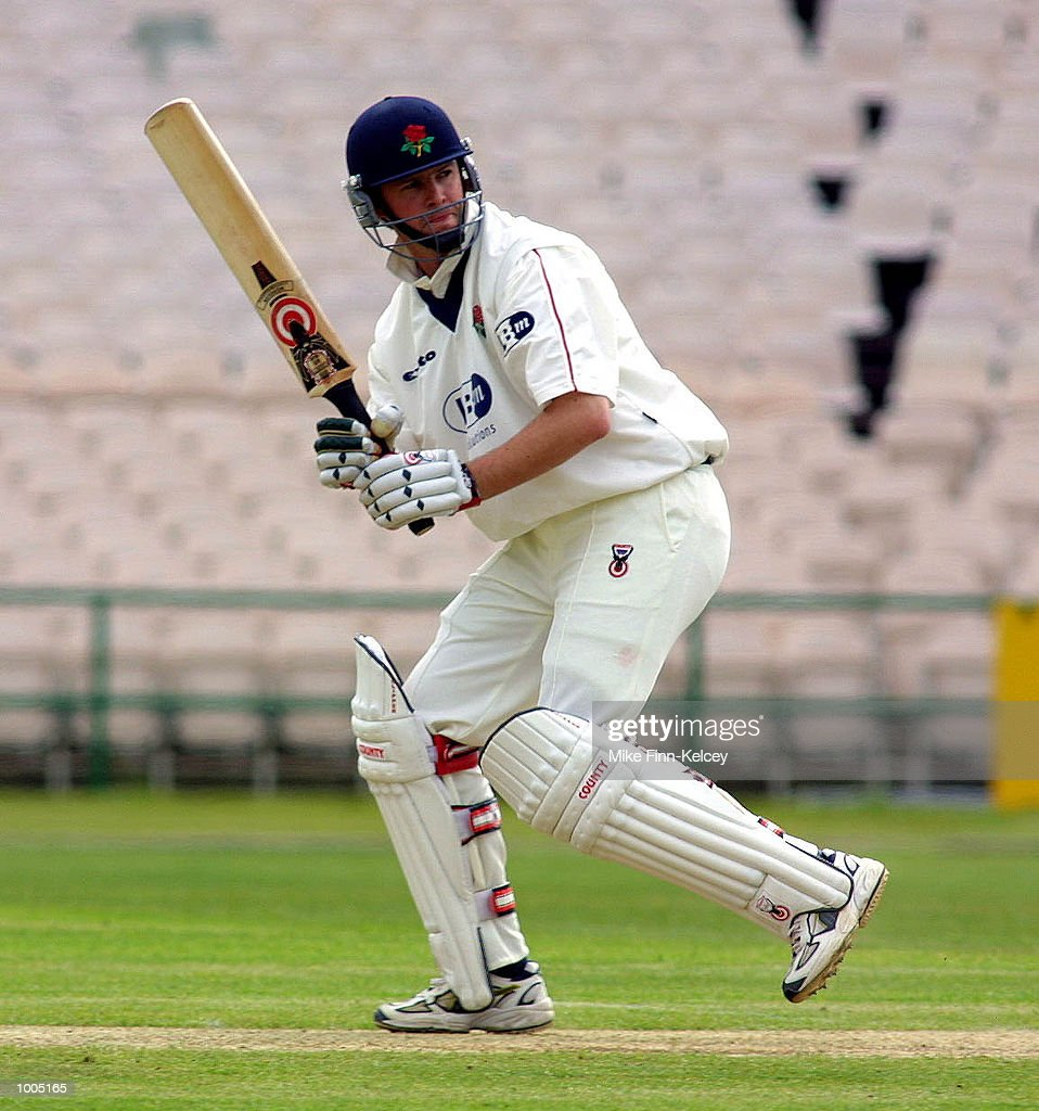 Alec Swann of Lancashire on his way to 80 during the Frizzell County Championship match between Lancashire ans Leicestershire at Old Trafford, Manchester. DIGITAL IMAGE Mandatory Credit: Mike Finn Kelcey/Getty Images