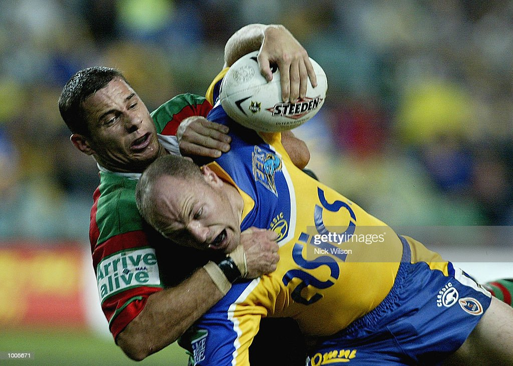 Andrew McFadden #7 of Paramatta in action during the Round 6 NRL Match between South Sydney and Parramatta being played at Aussie Stadium, Sydney, Australia. DIGITAL IMAGE Mandatory Credit: Nick Wilson/Getty Images