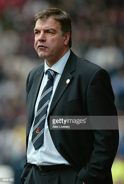Bolton Wanderers manager Sam Allardyce during the FA Barclaycard Premiership match between Bolton Wanderers and Tottenham Hotspur played at the...
