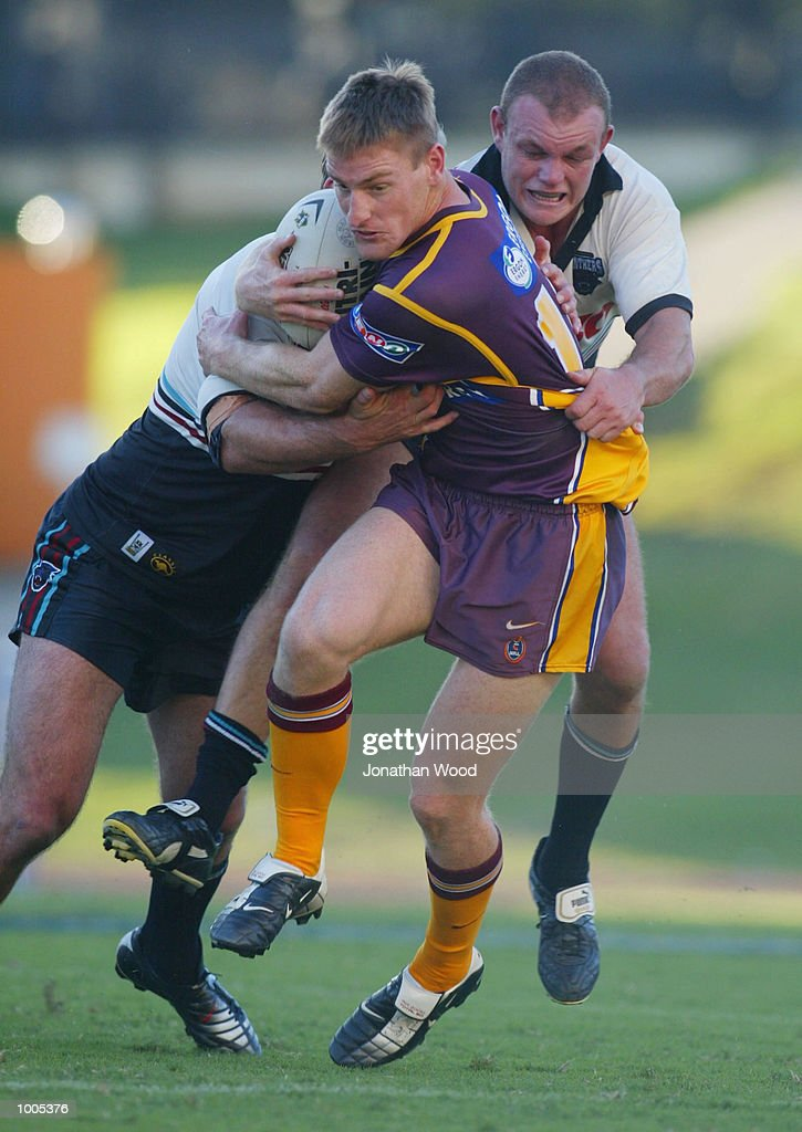 Brent Tate #16 of the Broncos in action during the National Rugby League Match between the Brisbane Broncos and the Panthers, played at ANZ Stadium, Brisbane, Australia. DIGITAL IMAGE. Mandatory Credit: Jonathan Wood/Getty Images