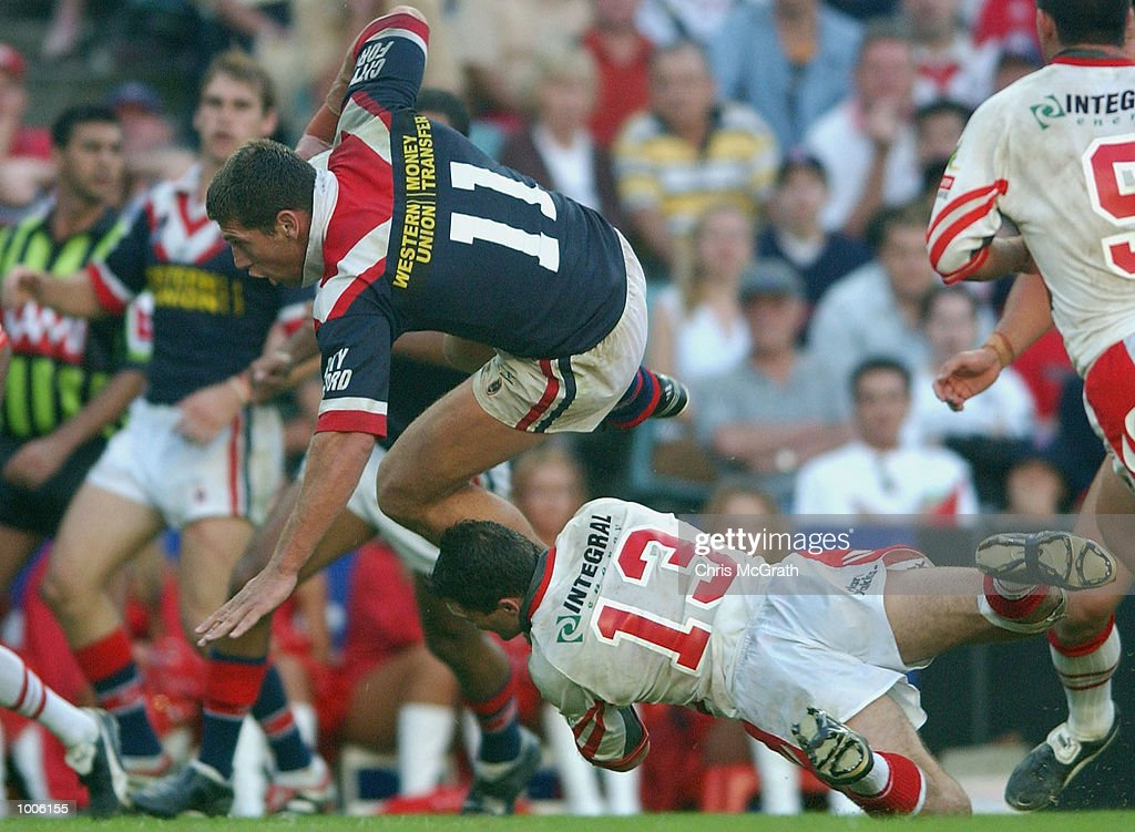 Bryan Fletcher #11 of the Roosters in action during the round 7 NRL match between the St George/Illawarra Dragons and the Sydney Roosters held at Aussie Stadium, Sydney, Australia. DIGITAL IMAGE. Mandatory Credit: Chris McGrath/Getty Images