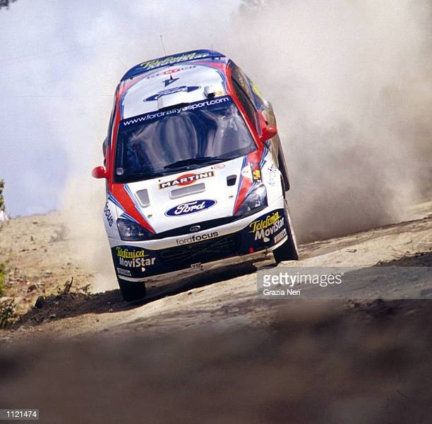 Carlos Sainz of Spain in action in his Ford Focus WRC during the Rally of Cyprus the fourth leg of the World Rally Championship DIGITAL IMAGE...