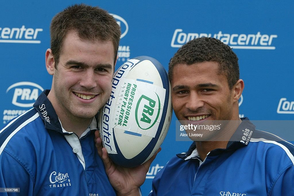 Charlie Hodgson (left) and Jason Robinson of Sale Sharks, who have both been nominated in the PRA Computacenter Rugby Players'' Awards pose during a photocall at Heywood Road, Sale, Manchester. DIGITAL IMAGE. Mandatory Credit: Alex Livesey/Getty Images