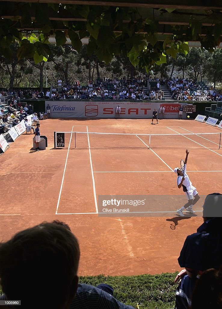 Crowds watch the second round match between Lapentti and Perez on Show Court One during the Open Seat Godo 2002 held in Barcelona, Spain. DIGITAL IMAGE Mandatory Credit: Clive Brunskill/Getty Images