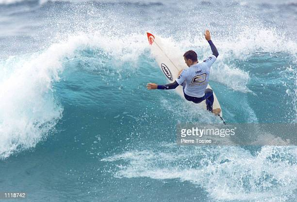 Daniel Wills of Byron Bay Australia advanced to the quarter finals of the Rip Curl Pro at Bells Beach Torquay Victoria Australia Wills beat...