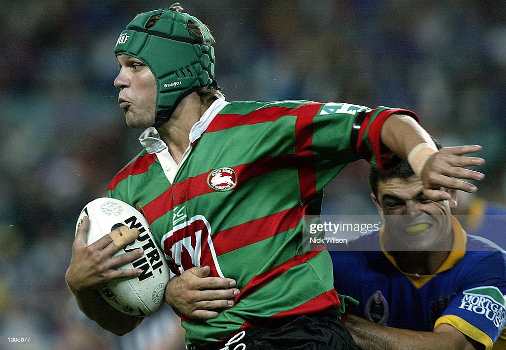 Duncan MacGillivray #17 of Souths in action during the Round 6 NRL Match between South Sydney and Parramatta being played at Aussie Stadium, Sydney, Australia. DIGITAL IMAGE Mandatory Credit: Nick Wilson/Getty Images