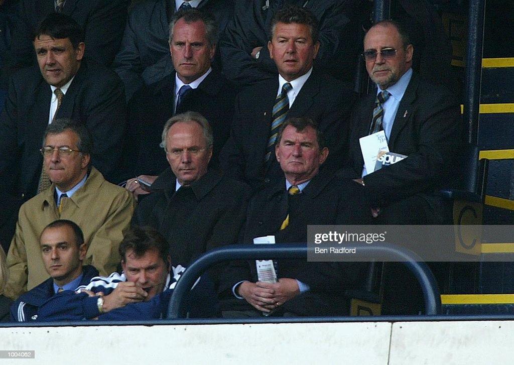 England Manager Sven-Goran Eriksson during the FA Barclaycard Premiership match between Tottenham Hotspur and West Ham United at White Hart Lane, London. DIGITAL IMAGE Mandatory Credit: Ben Radford/Getty Images