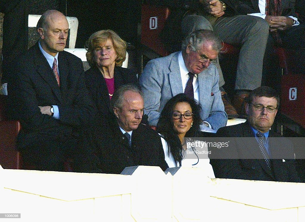 England manager Sven-Goran Eriksson with his girlfriend Nacy Dell''Olio during the FA Barclaycard Premiership match between Arsenal and West Ham United at Highbury, London. DIGITAL IMAGE Mandatory Credit: Ben Radford/Getty Images