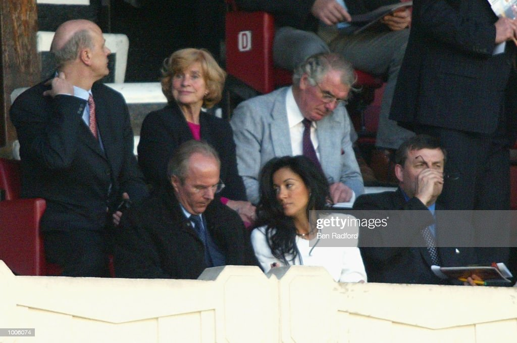 England manager Sven-Goran Eriksson with his girlfriend Nancy Dell''Olio during the FA Barclaycard Premiership match between Arsenal and West Ham United at Highbury, London. DIGITAL IMAGE Mandatory Credit: Ben Radford/Getty Images