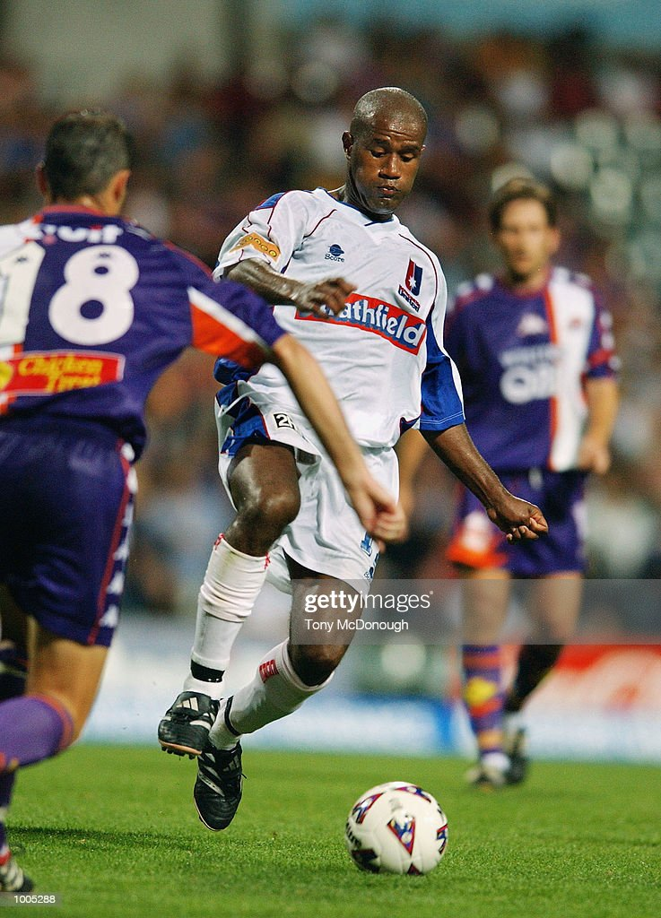 Esala Masi #17 for Newcastle in action during the major semi-final first leg between Perth Glory v Newcastle United, played at the Subiaco Oval. DIGITAL IMAGE Mandatory Credit: Tony McDonough/Getty Images